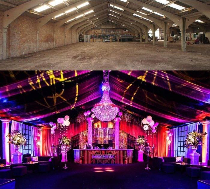 Event Design: Transforming industrial spaces, interior
