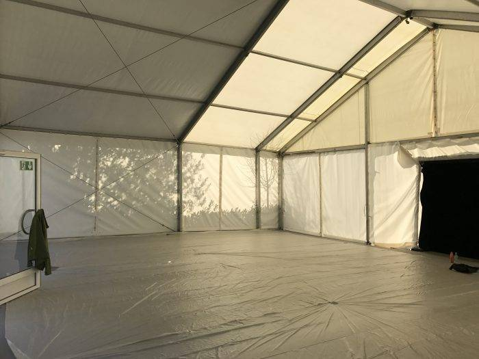 Private Party Marquee Interior Before Styling Photo