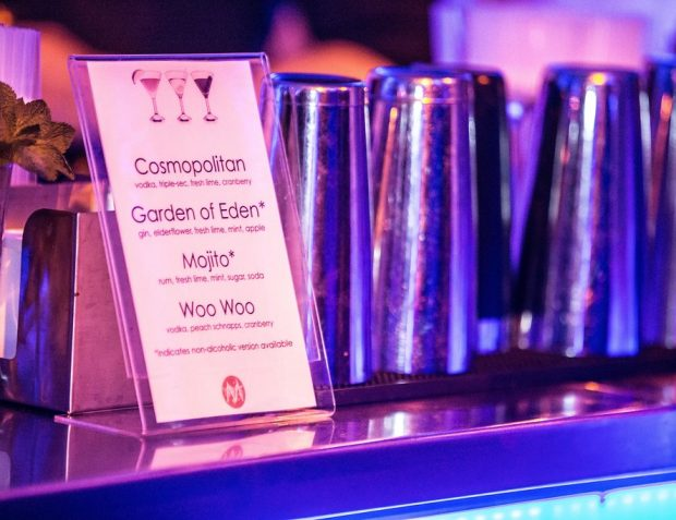 Cocktail bar menu private party