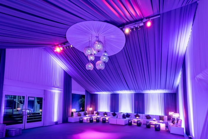 Draping Marquee Interior After Photo
