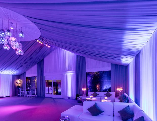 Marquee interior with draping