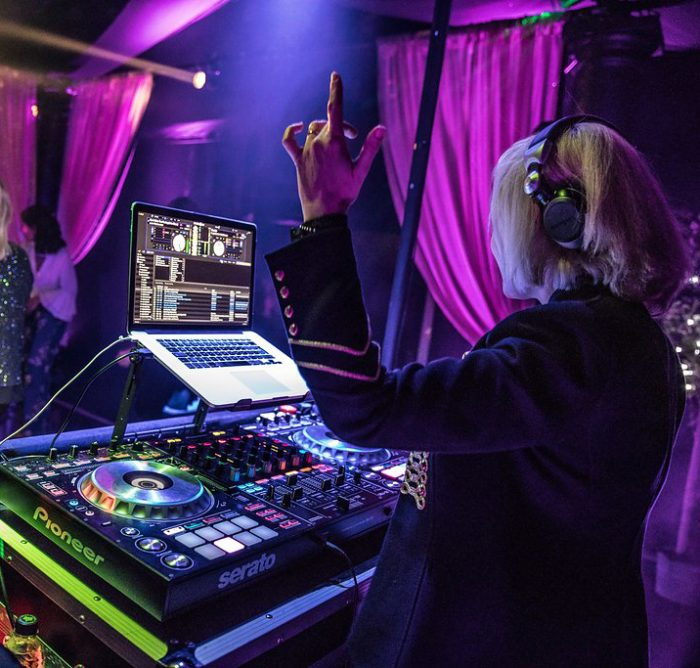 DJ cool nightclub private garden party marquee