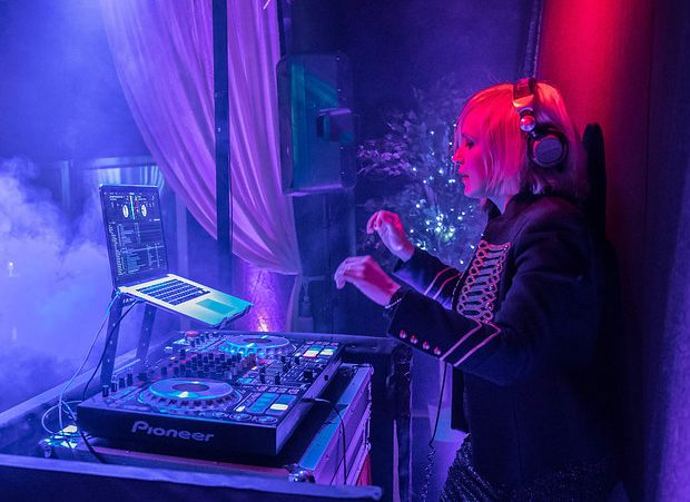 DJ at cool party