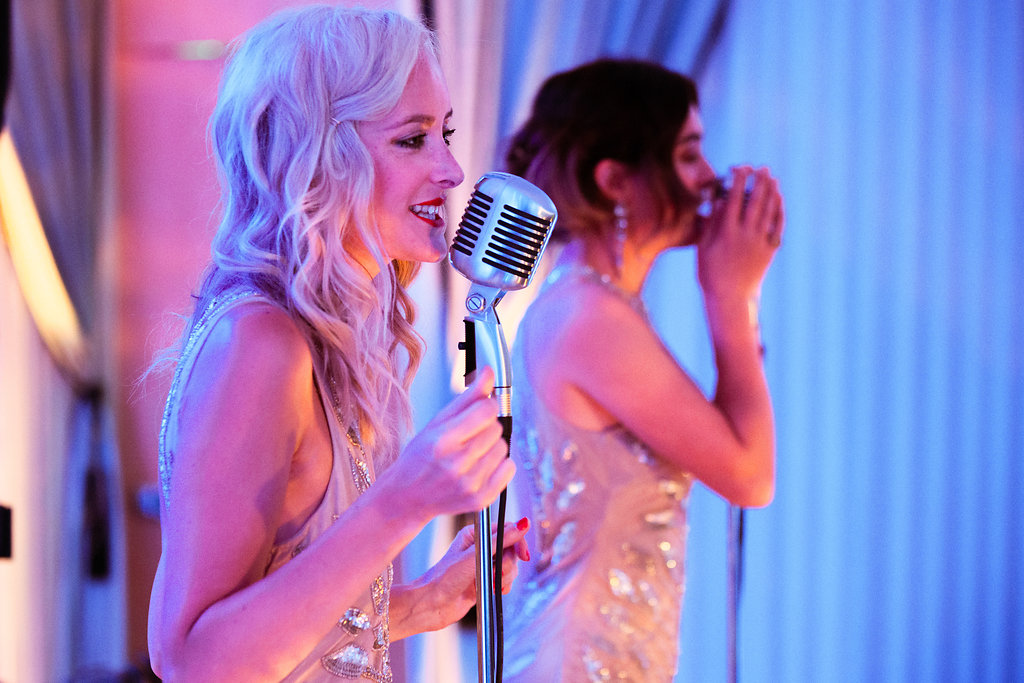 Duo singing at private London party 50th birthday