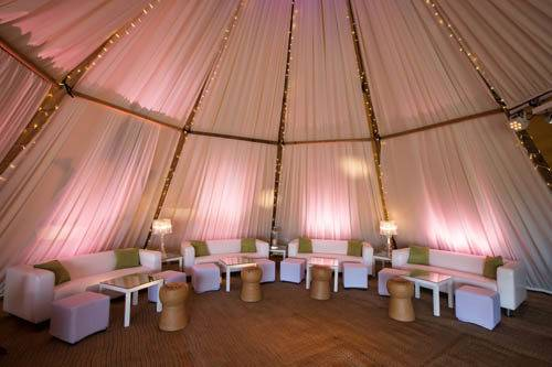 giant tipi interior