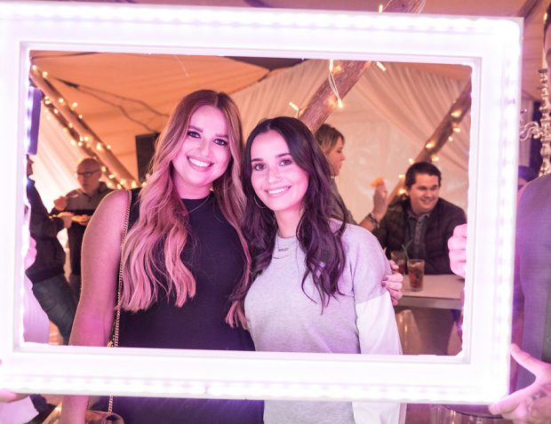 Two ladies in LED photo frame