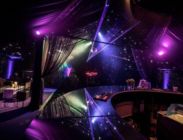 Set up shot inside Rage pop-up nightclub