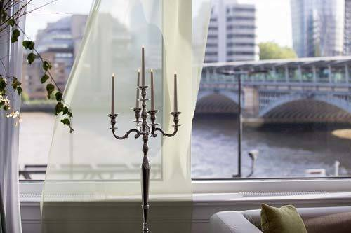 modern London wedding candelabra