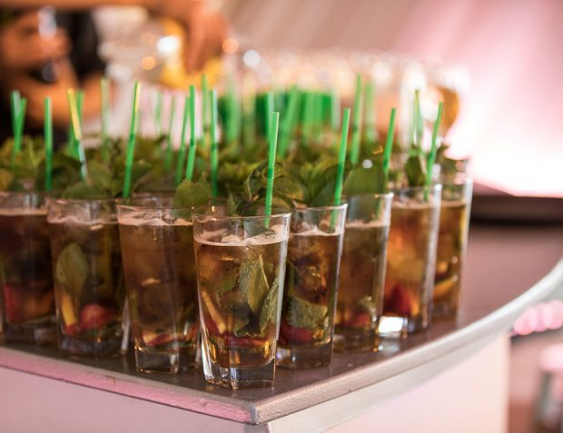 Pimms on the bar