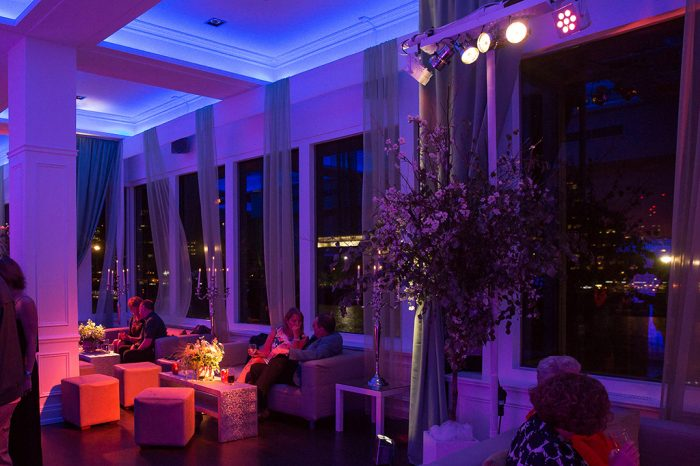 Interior River Rooms Lodon styled by Mirage Parties