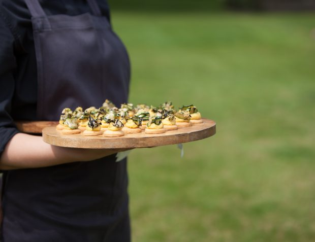 Canepes Served At Summer Garden party