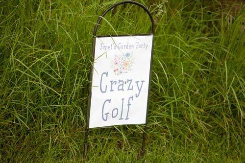 crazy golf garden party