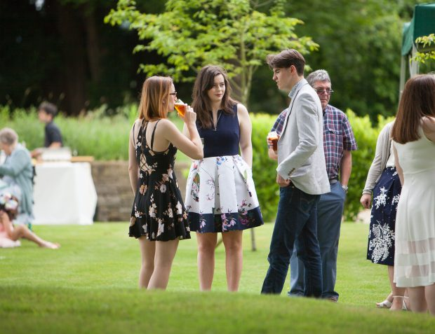 Guests At Pretty Garden Party