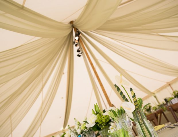 Draping Inside Marquee