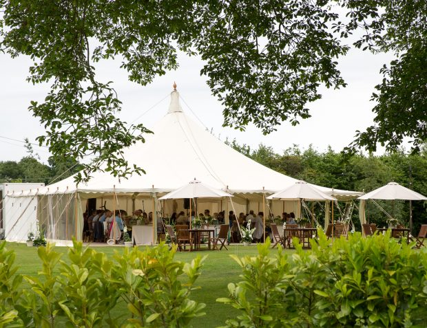 Summer Party Marquee Exterior