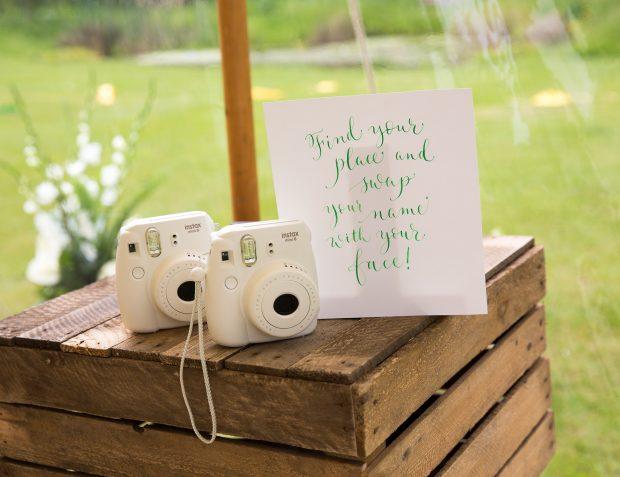 Polaroid Cameras Providing An Interactive Table plan