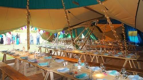 festival tipi interior
