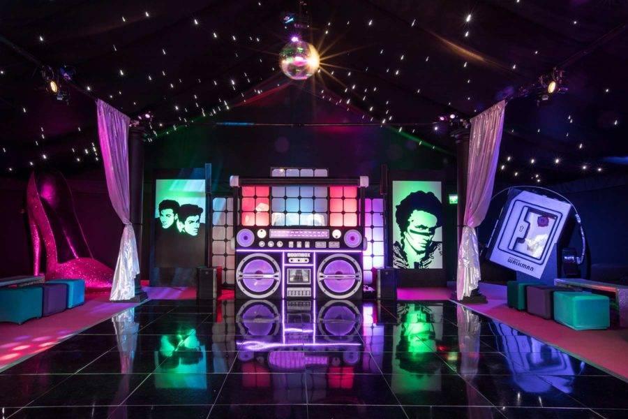 1980s party dance floor