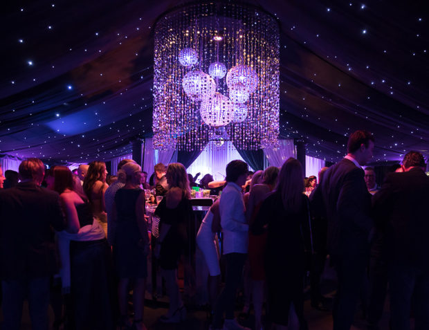 Essex Birthday Party Marquee Interior with Guests