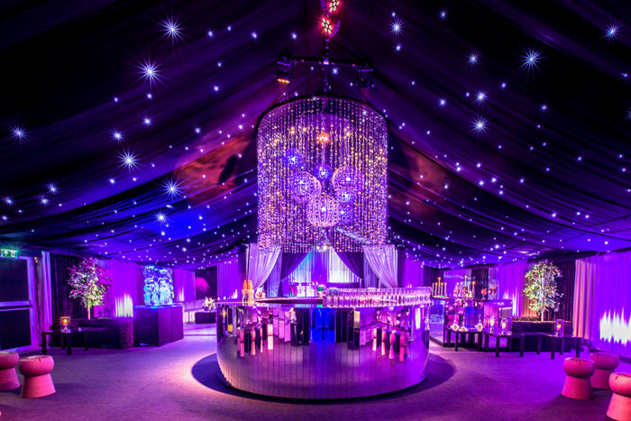Interior high-end marquee private party