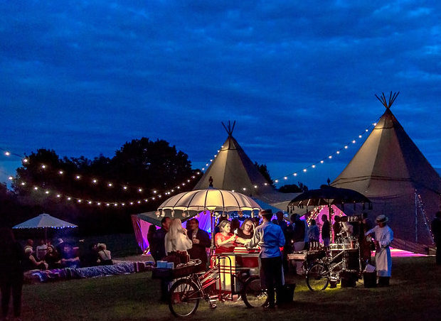 Stunning tipi party on a glorious mid summer's eve