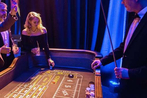 Casino table at Oceans 11 themed party