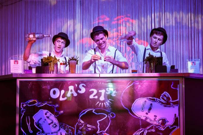 Cocktail Bar Tenders at Cloud Atlas meets Clockwork Orange Themed Private 21st Birthday Party