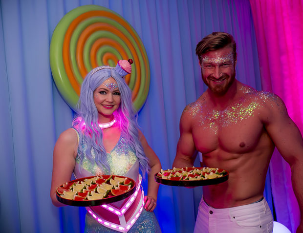 Male and Female Entertainers at Katy Perry California Gurls Themed Party