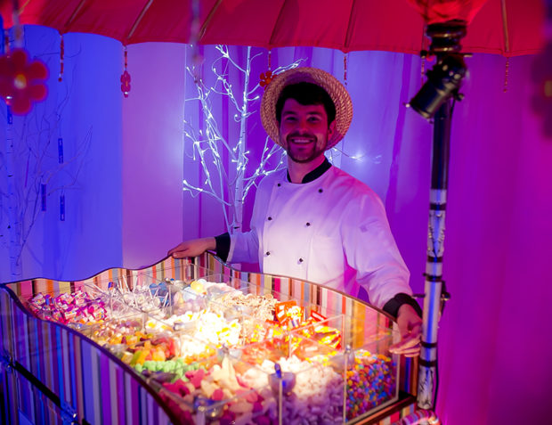 Candy man at Katy Perry California Gurls Themed Party