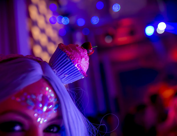 Cupcake Girl at Katy Perry California Gurls Themed Party