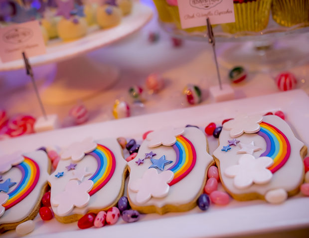 Rainbow Cookies at Katy Perry California Gurls Themed Party