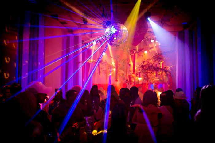 Mirror Ball at Katy Perry California Gurls Themed Party
