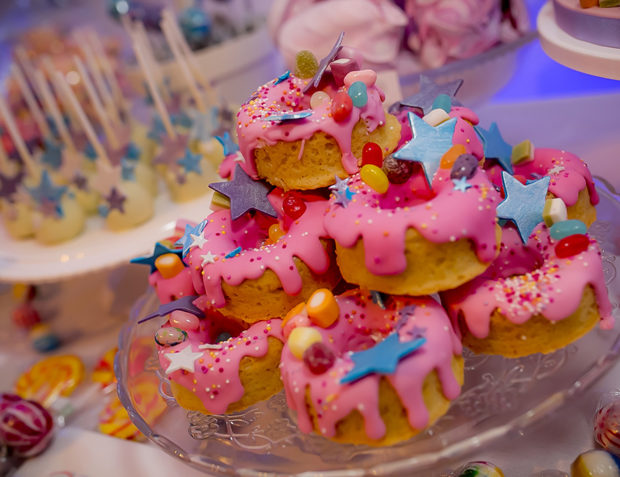 Cakes at Katy Perry California Gurls Themed Party