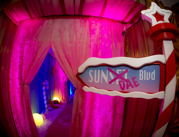 Sundae Blvd Prop at Katy Perry California Gurls Themed Party