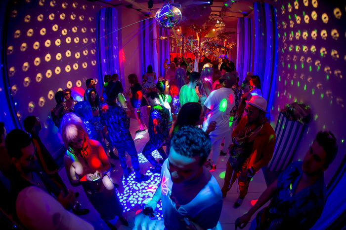 Guests at Katy Perry California Gurls Themed Party in London
