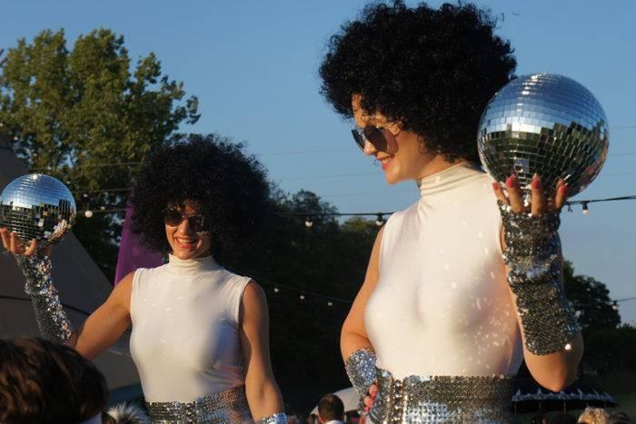 1970s stilt walkers