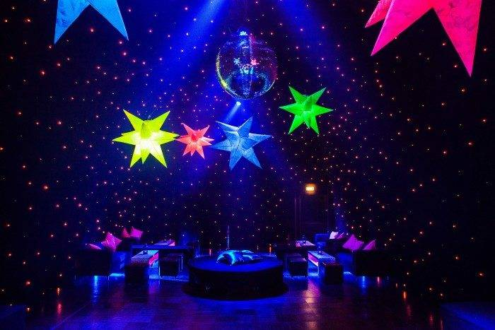 Outer space Themes Party With Inflatable Lights