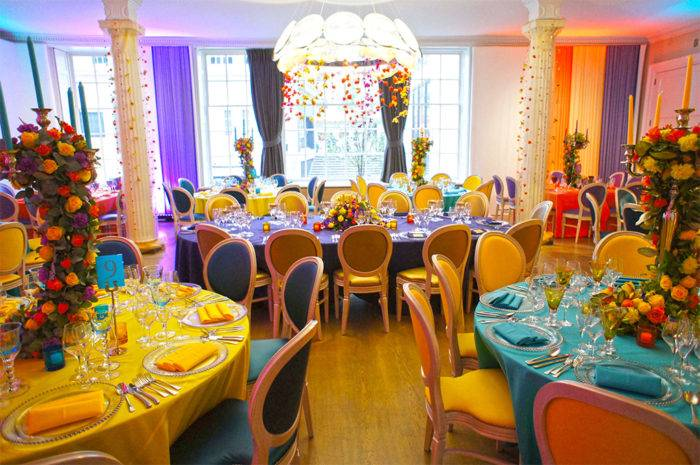 Colourful London Wedding Party by Mirage Parties