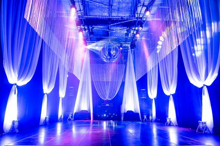 Lighting And Draping At Private Party