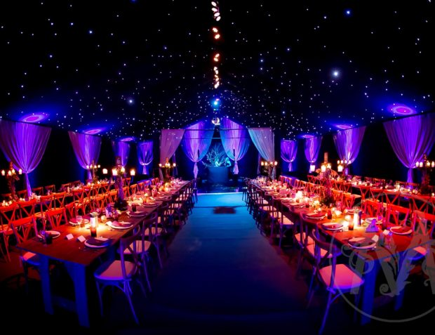 winter solstice themed luxury party marquee