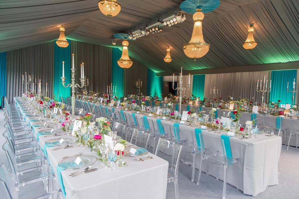 Luxury marquee interior draping