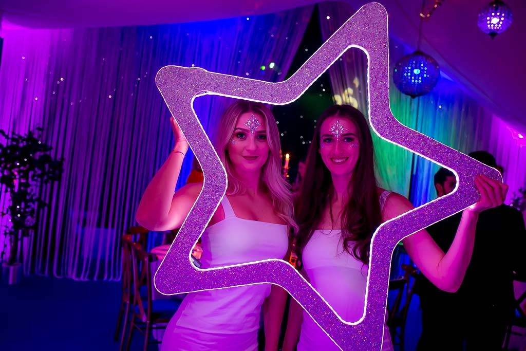 Hostesses and led photo frame