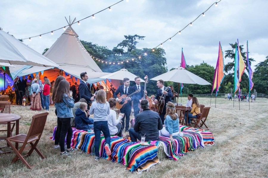 Festival-Tipi-Party-Roaming-Band-Firepit