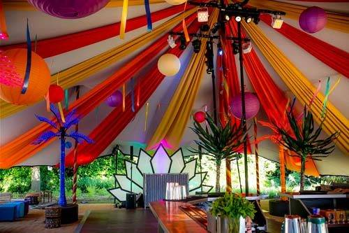 carnival party marquee draping
