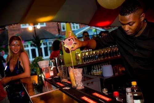 carnival themed party barman