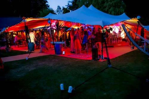 carnival themed party exterior