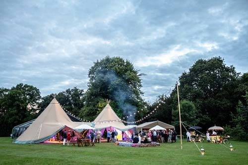 tipi marquee party 50th