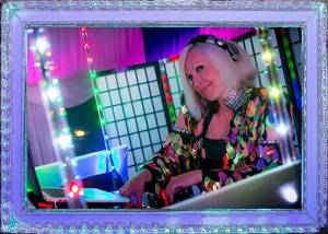 DJ Rosie in LED Frame