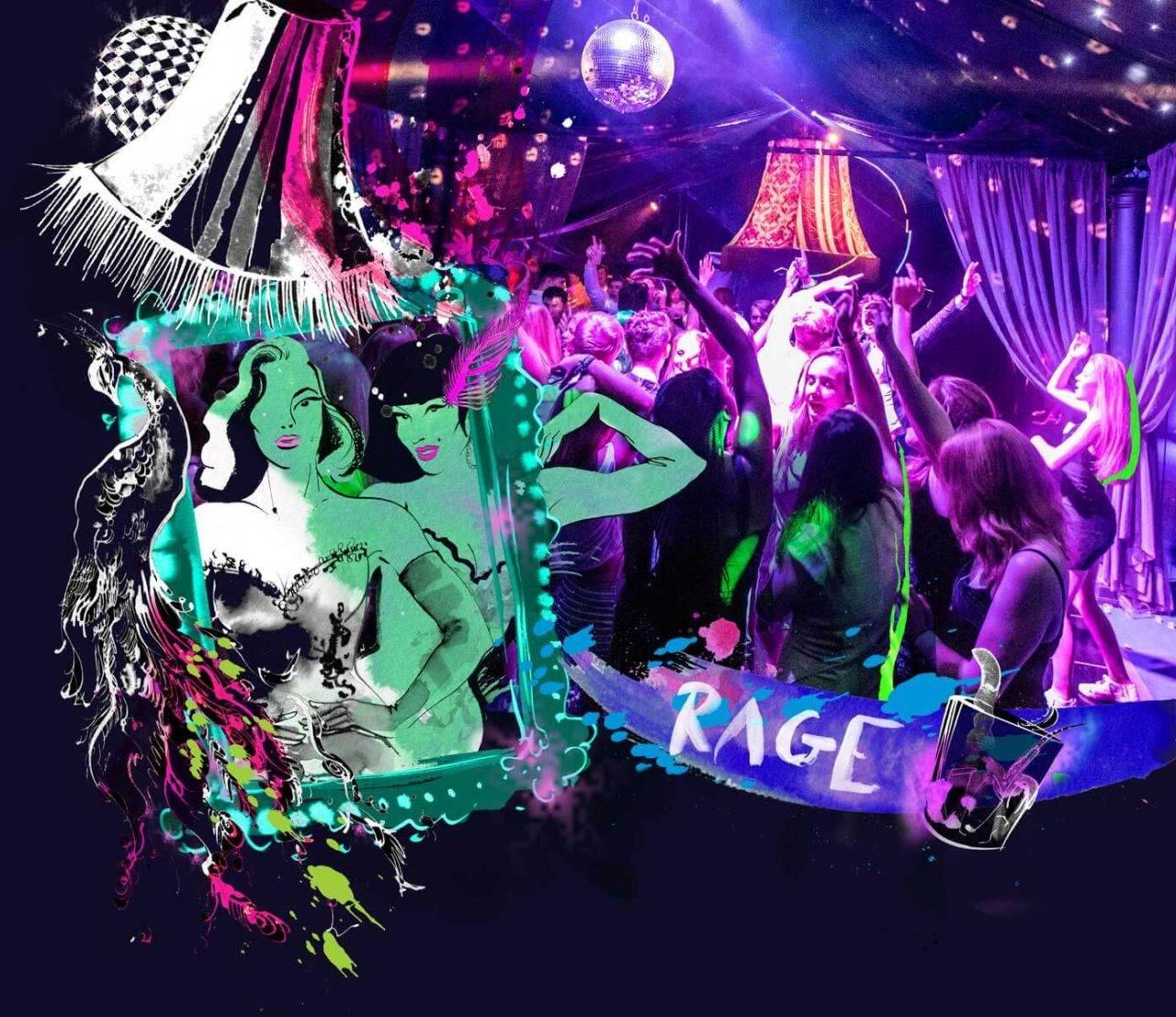Rage Pop Up Nightclub Illustration