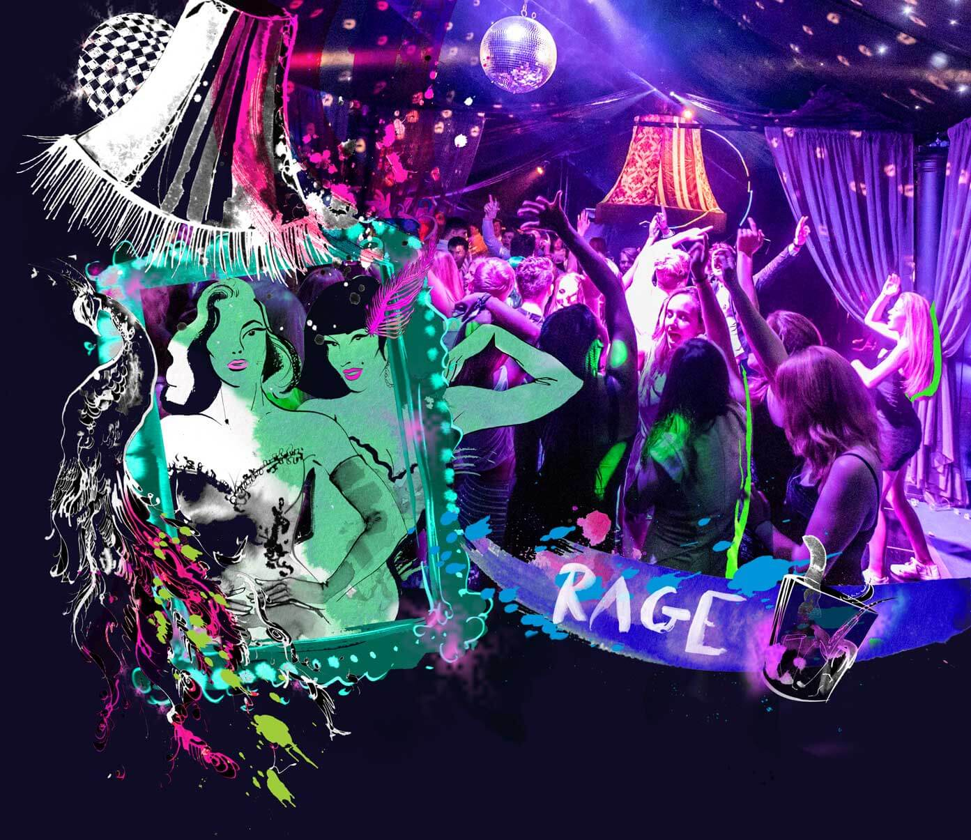 The Rage Pop Up Nightclub illustration